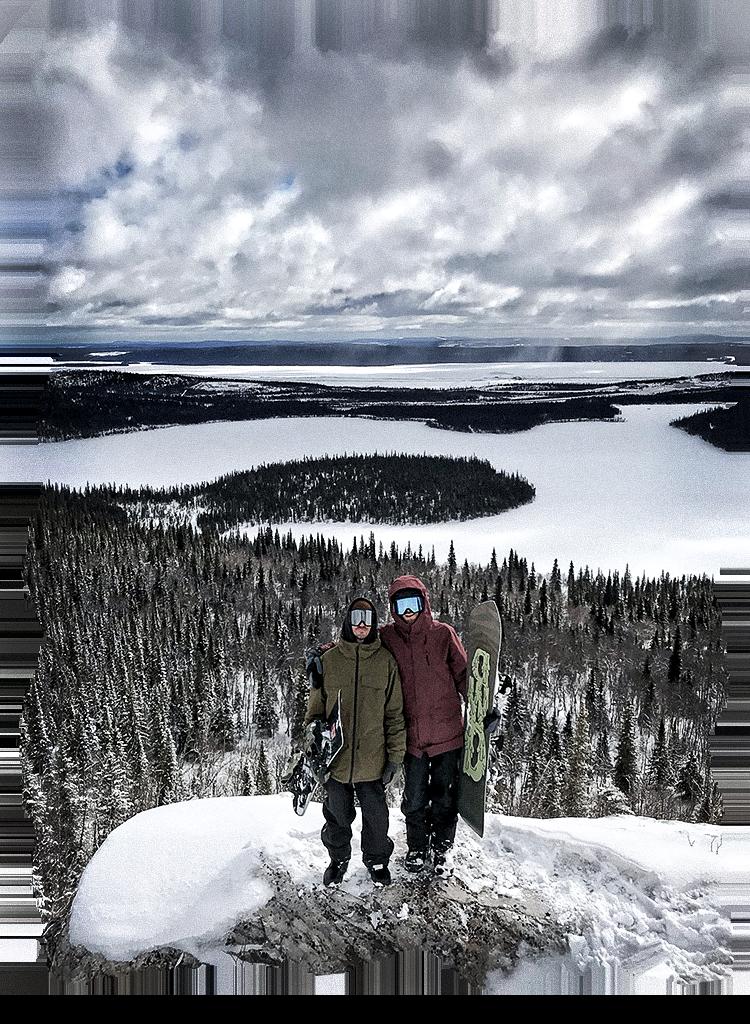 Gabe Fisher and Sean Genovese at Smokey Mountain