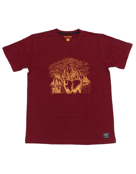 Burgundy Moose T-Shirt