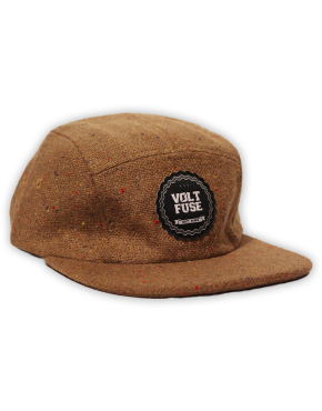 Khaki Tweed 5-Panel Cap