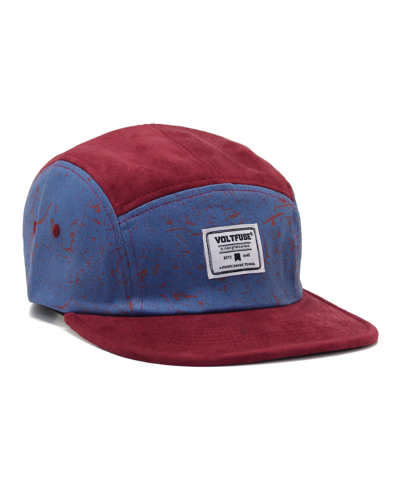 Burgundy/Blue Splash Cap