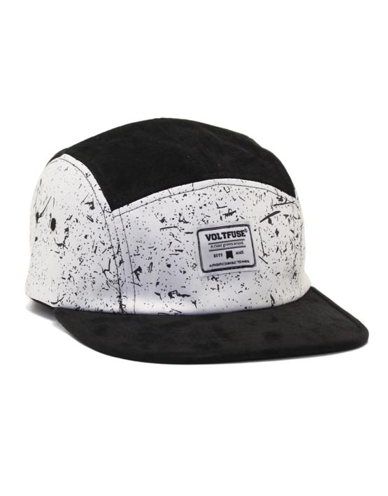 Black/White Splash Cap