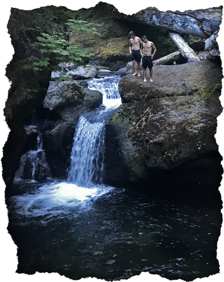 Cliff jumping at Mt. Hood