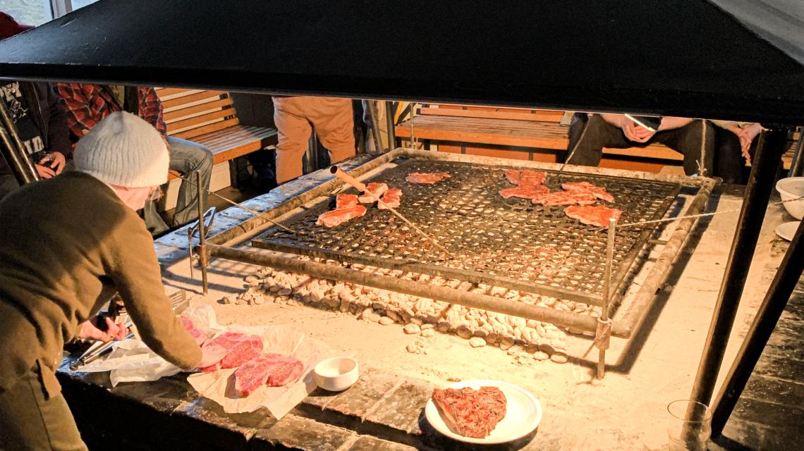 Steak night at Smokey Mountain